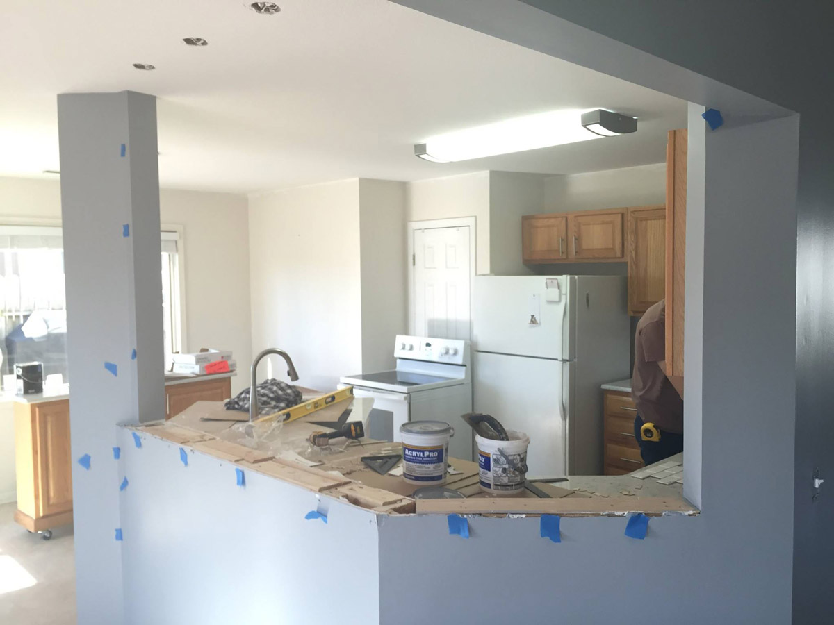 Kitchen Reconfiguration – During