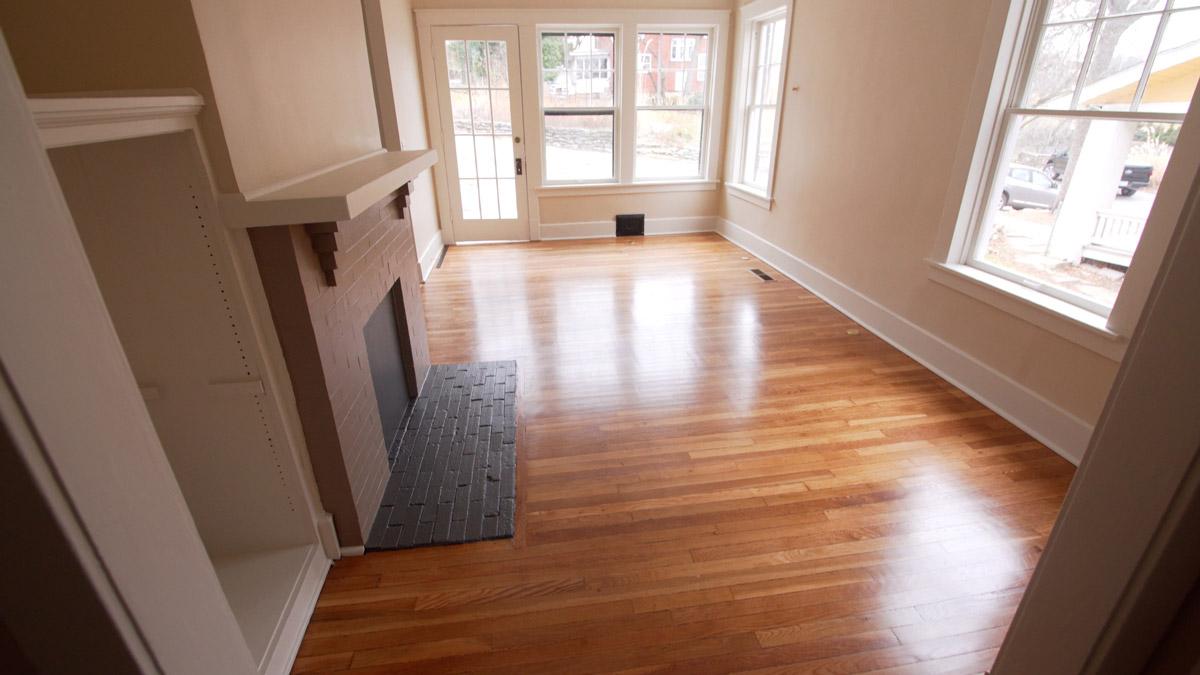 Flooring –Refinished 120-year-old Hardwoods
