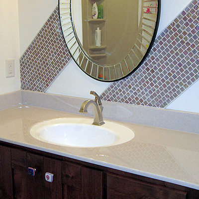 recessed oval lavatory sink